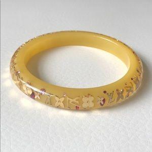 Louis Vuitton yellow resin bangle bracelet